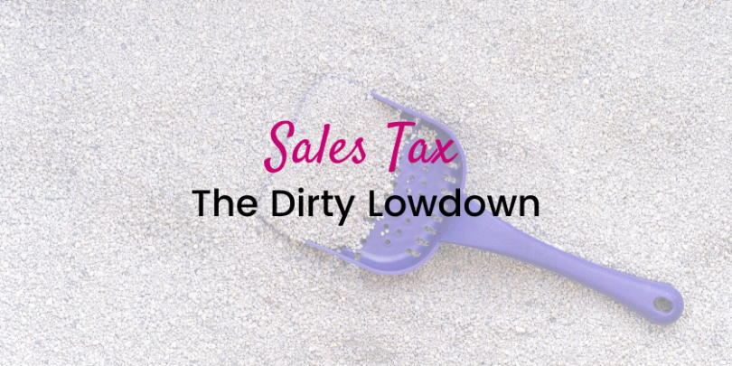 Sales Tax is totally overwhelming and often confusing for handmade and/or creative business owner. And it's little wonder - few understand (or even want to think about) the impact that the Supreme Court ruling that went into effect June 21, 2018 had on every business that sells on the internet. Here's the DIRTY lowdown on Sales Tax and it's impact on your creative biz.