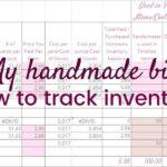 My Handmade Biz-How to Track Inventory
