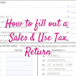 How To fill out a Sales & Use Tax Return