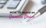 How to record an Owner's Draw